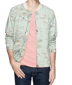 Scotch and Soda Camoflage Denim Herrington Jacket