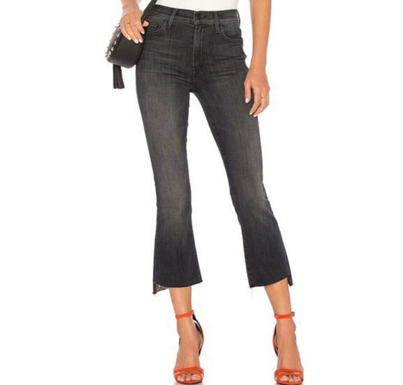 MOTHER Insider Crop Step Fray Jeans sz 26