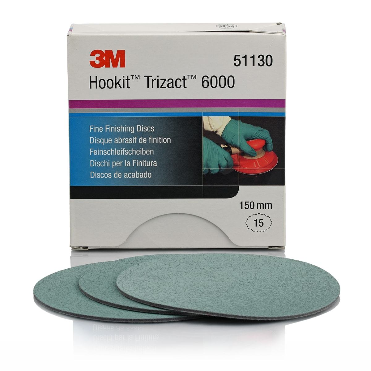 3M Trizact P6000 Fine Finishing Disc 150mm