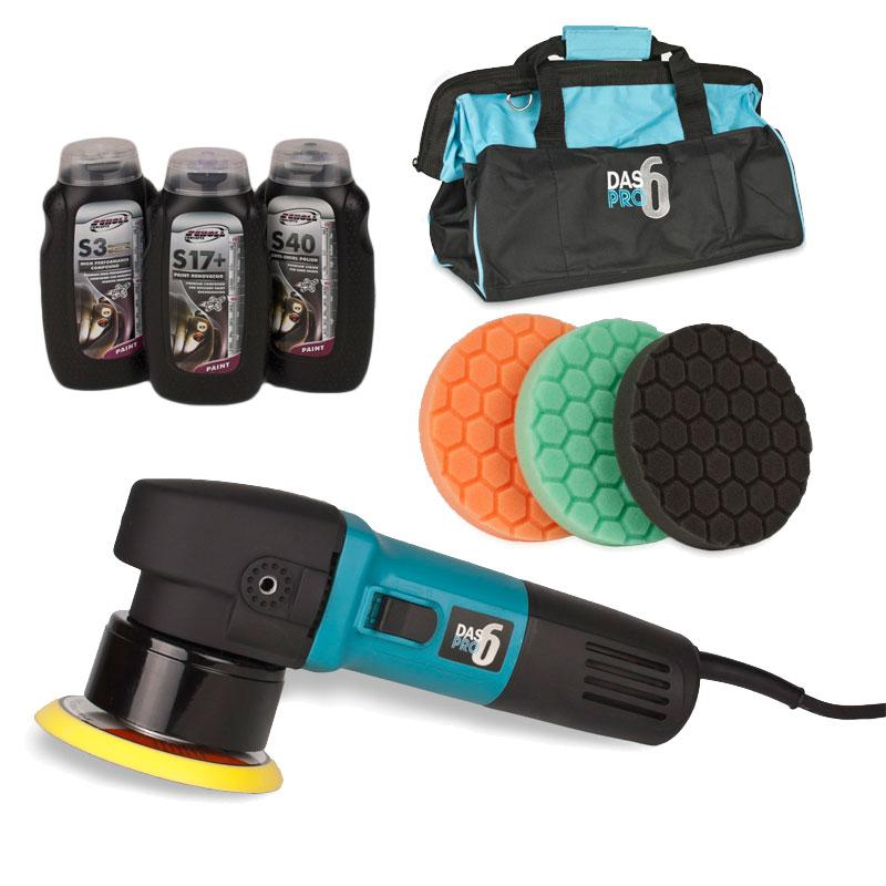 Kestrel DAS6 Dual Action Polisher Buffing /& Compound Kit With Bag!
