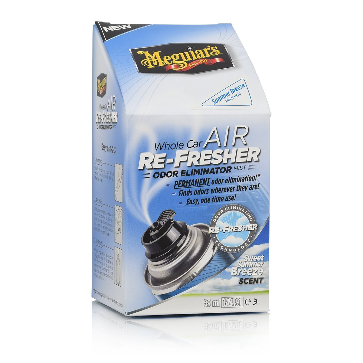 Meguiars Whole Car Air Re-Fresher Odor Eliminator Summer Breeze Scent