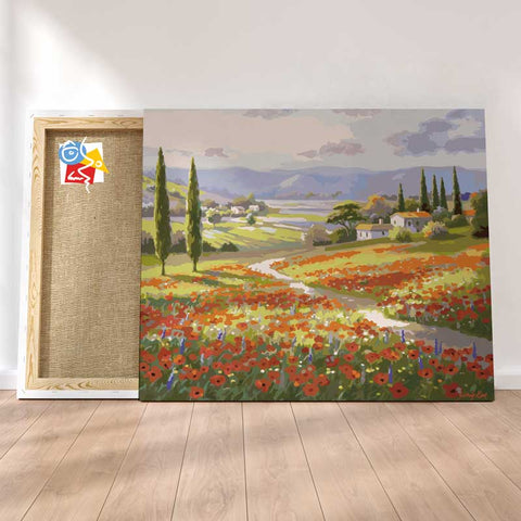 POPPY FIELDS II - Painting By Numbers