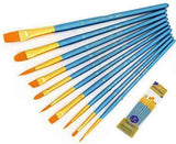 10 Pieces Paint Nylon Brushes - Painting By Numbers