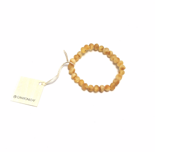 CanyonLeaf - Adult: Raw Honey Amber Bracelet