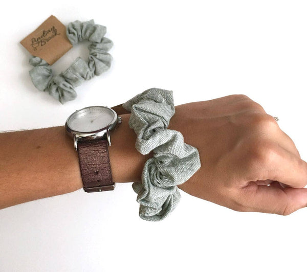 Lindsay Brook Designs - Sage Linen Scrunchie