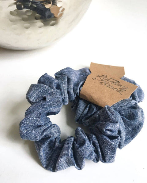 Lindsay Brook Designs - Indigo Chambray Scrunchie