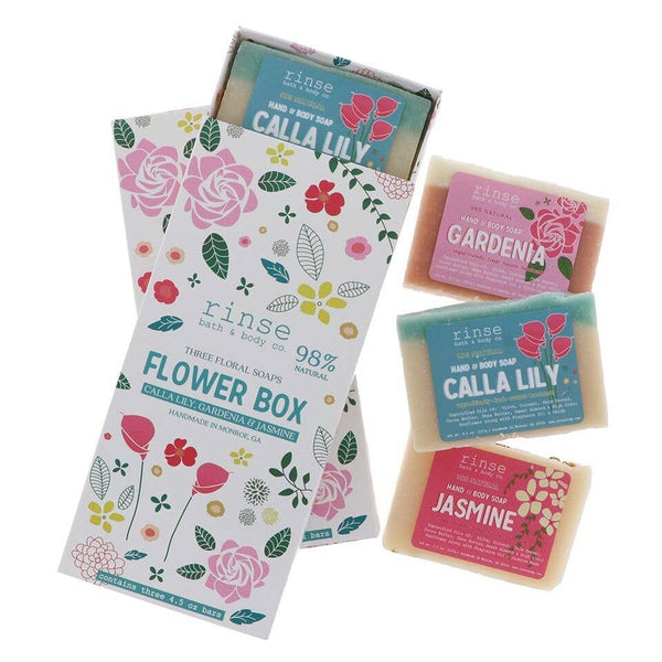 Rinse Bath Body Inc - Soap - Flower Box (3 bars)
