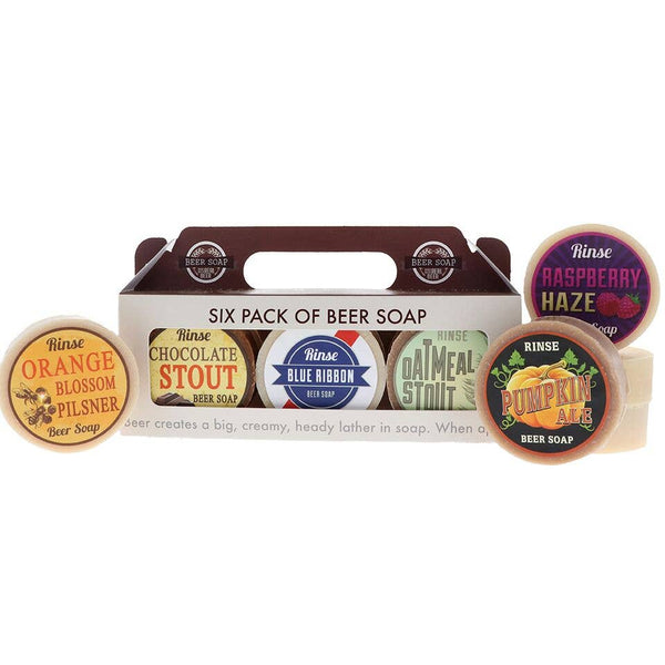 Rinse Bath Body Inc - Beer Soap - Six Pack of Beer