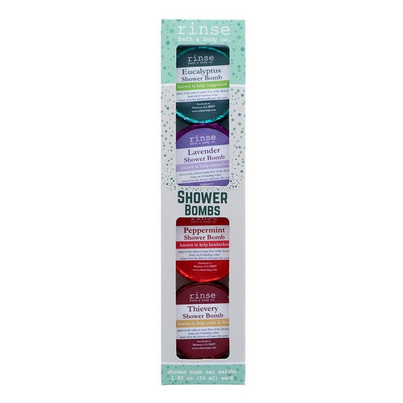 Rinse Bath Body Inc - Shower Bomb - 4 Pack - Assorted