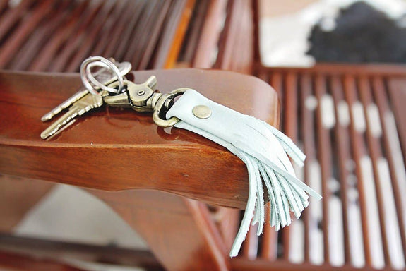 Permanent Baggage - Leather Tassel Keychain