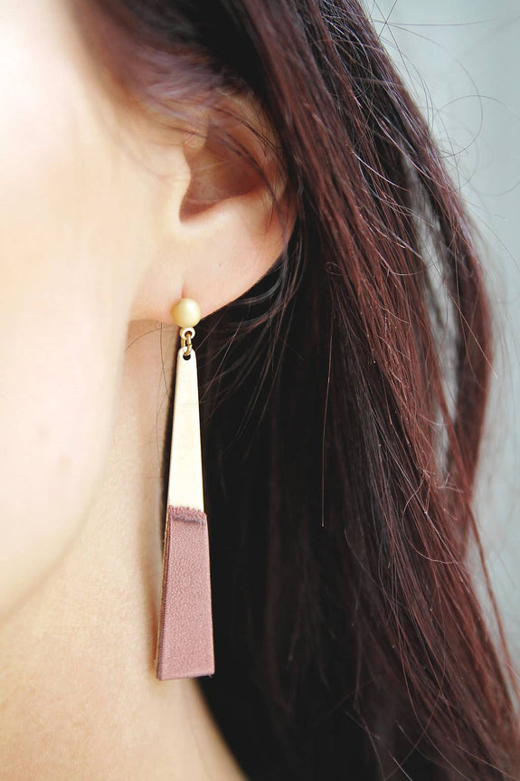 Permanent Baggage - Leather Slim Earrings