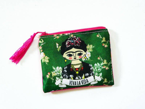 Chunchitos - Frida Kahlo Zipper Pouch - Viva La Vida
