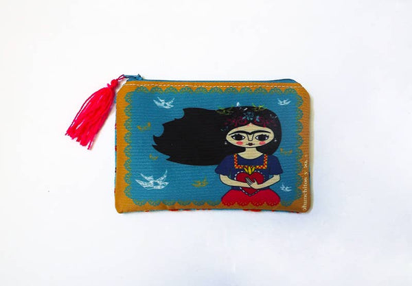 Chunchitos - Frida Kahlo Zipper Pouch