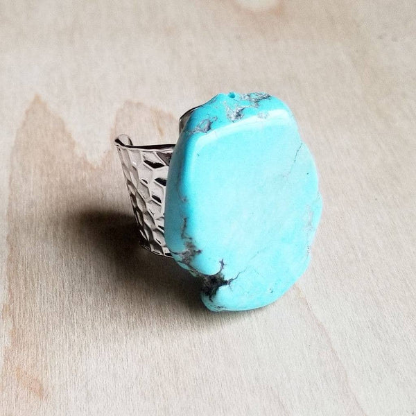 The Jewelry Junkie - Blue Turquoise Slab Ring