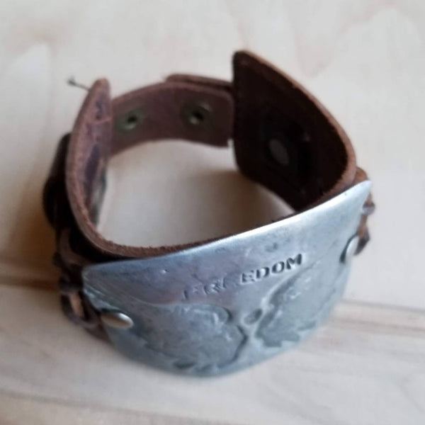 The Jewelry Junkie - Freedom Cuff in Antique Silver