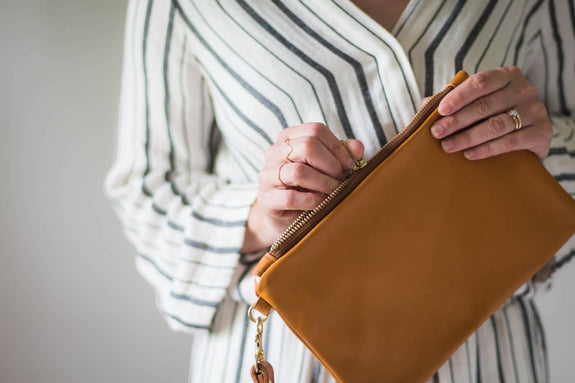 Created Beautifully - Leather Emily Clutch