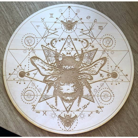 Zen and Meow - Honey Bee Crystal Grid