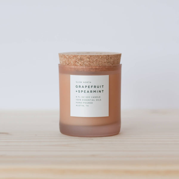 Slow North - Frosted Candle | Grapefruit + Spearmint
