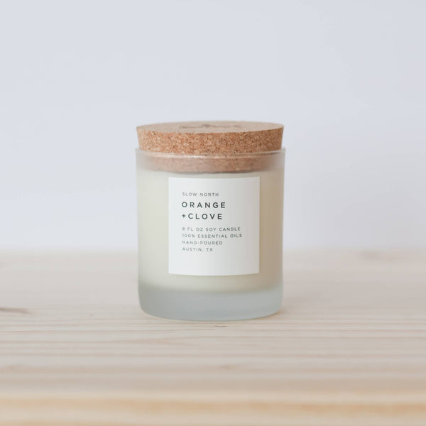 Slow North - Frosted Candle | Orange + Clove