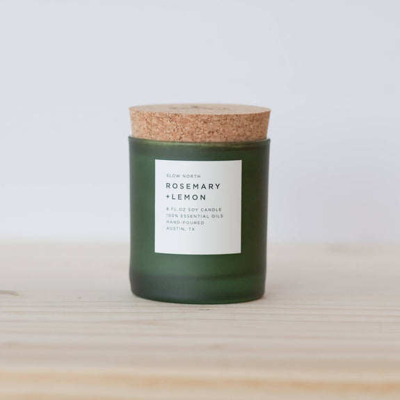 Slow North - Rosemary + Lemon Frosted Candle