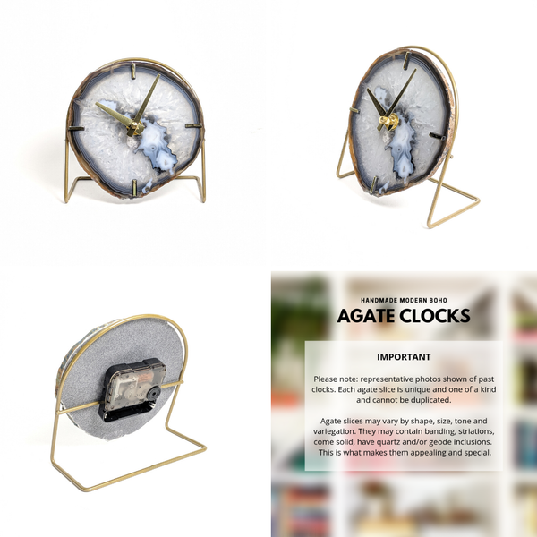 Mod North & Co. - Gray Agate Clock