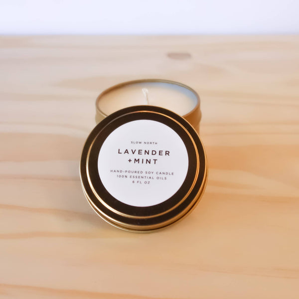 Slow North - Travel Tin Candles | Lavender + Mint (6 oz.)