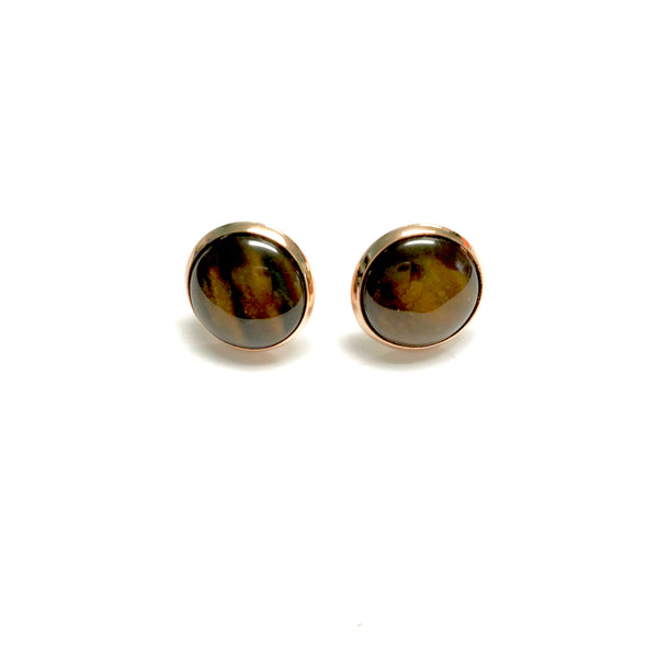 All Up In The Hair - Faux Tigers Eye Earrings