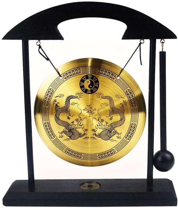 Feng Shui - Brass Dragon Windbell
