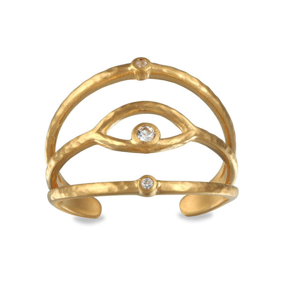 Satya Jewelry - Gold Eye Ring