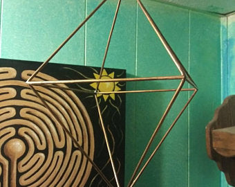 8 inch Copper Octahedron