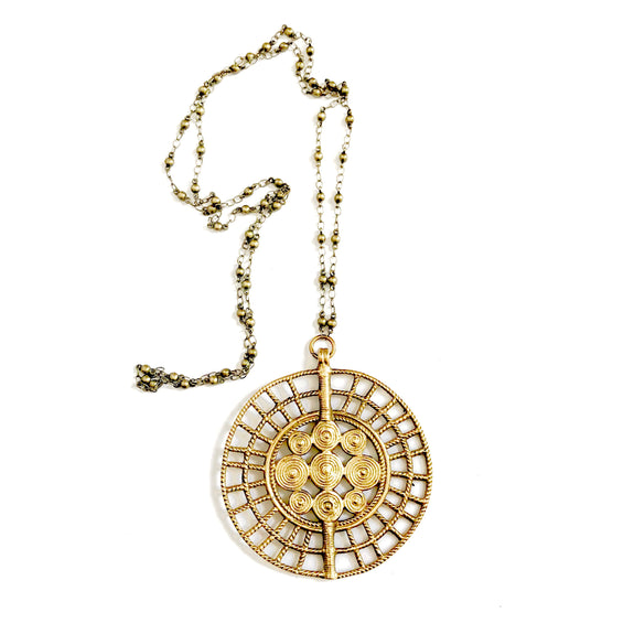 Boho Gal Jewelry Sundra Medallion Necklace