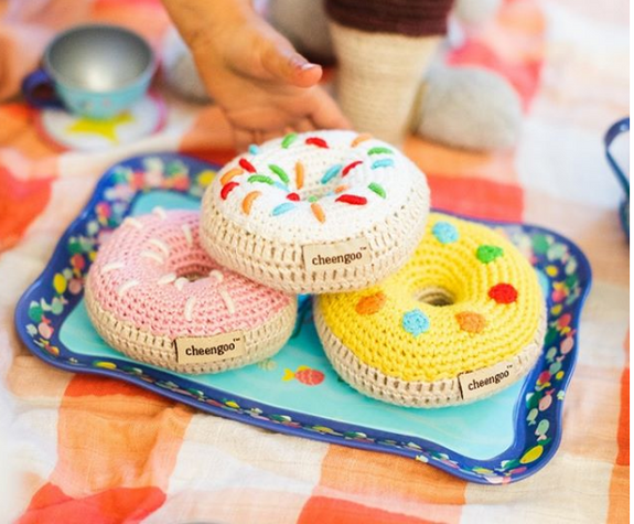 Donut Rattle Crocheted