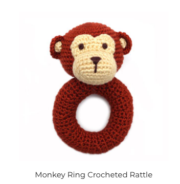 Ring Hand Crocheted Rattle