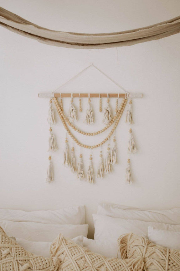 Village Thrive - Ulu Tassel Wall Hanging | Natural