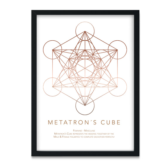 Gadegaard Home - Geometry Metatrons Cube | 300 x 400 mm