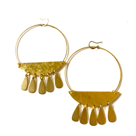 Boho Gal Jewelry - Alia Brass Dangle Earrings