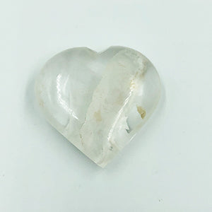 Clear Quartz Heart Shaped Stone