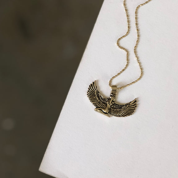 Boho Gal Jewelry - Goddess Wings Isis Necklace