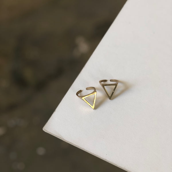 Boho Gal Jewelry - Triangle Adjustable Ring