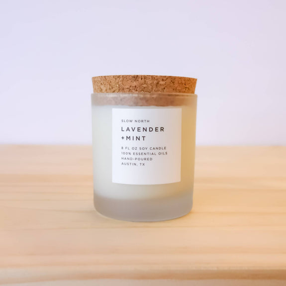 Slow North - Lavender + Mint Frosted Candle