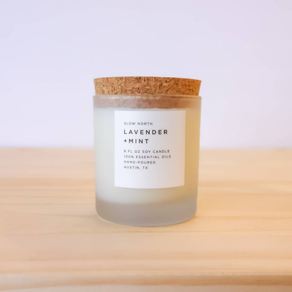 Slow North - Frosted Candle | Lavender + Mint