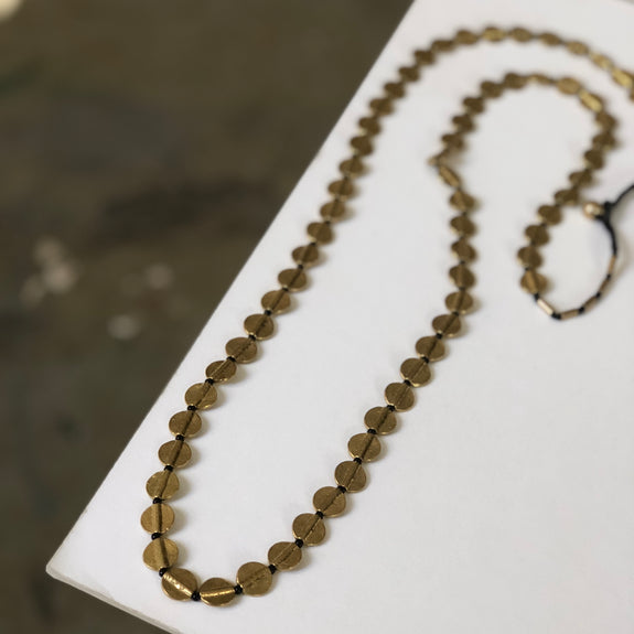Boho Gal Jewelry - Sana Long Brass Necklace