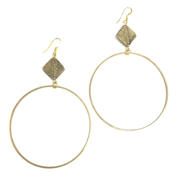 Boho Gal Jewelry - Ziba Hoop Earrings
