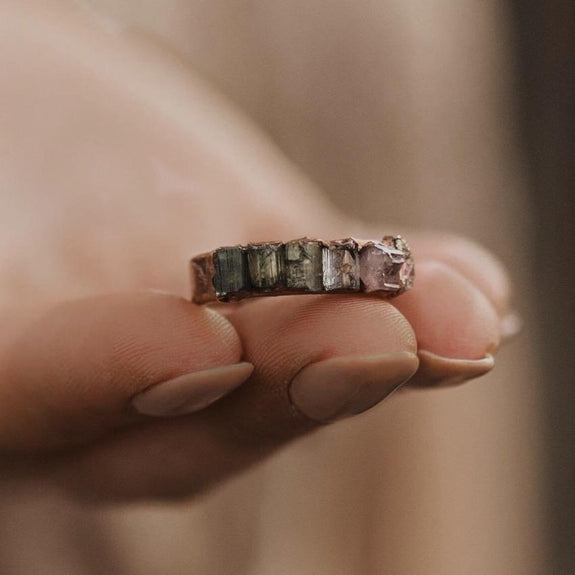 Ombre Tourmaline Ring