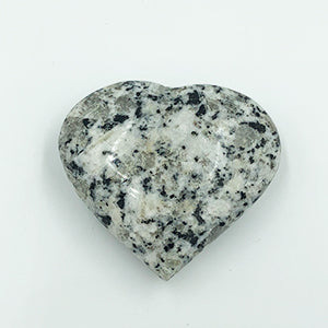 Hornblende Moonstone Heart Shaped Stone