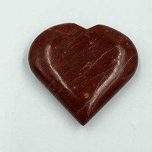 Red Jasper Heart Shaped Stone