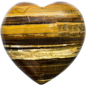 Tiger's Eye Heart Shaped Stone
