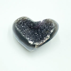 Amethyst Druzy Heart Shaped Stone