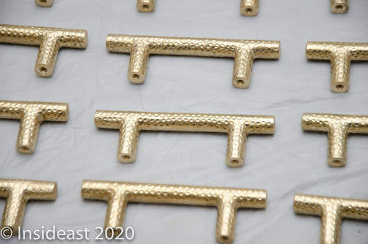 Solid Brass Cabinet Drawer Pull, Handcrafted Handle Pull (Set of 4)