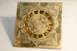 Solid Brass Floor Drain, Engraved Square Shower Drain